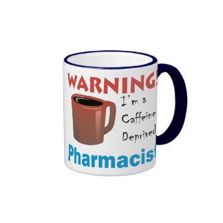 Caffeine Deprived Pharmacist Ringer Mug