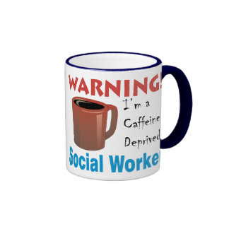 Caffeine Deprived Social Worker Ringer Mug