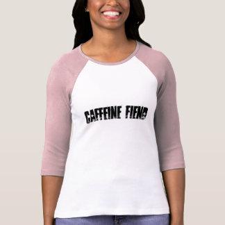 Caffeine Fiend Coffee Ladies Raglan Baseball Shirt