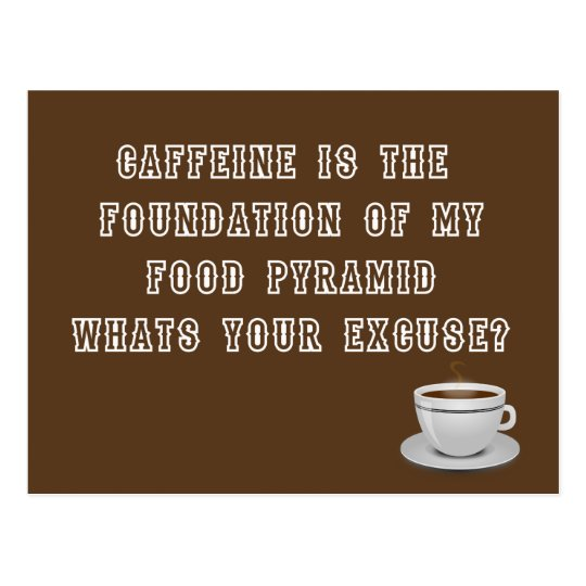 Caffeine Food Pyramid postcard