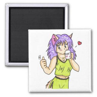 Caffeine Kitty Magnet