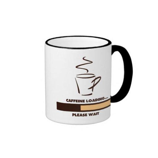 CAFFEINE LOADING - PLEASE WAIT COFFEE MUGS