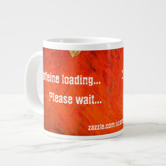 Caffeine Loading Terra Cotta Mug 20 Oz Large Ceramic Coffee Mug