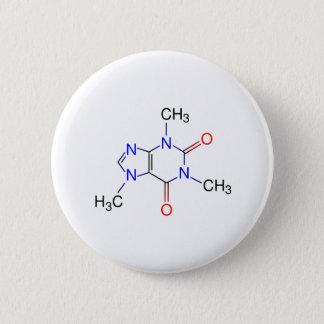 Caffeine Molecule 6 Cm Round Badge
