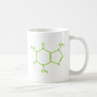 Caffeine Molecule Basic White Mug