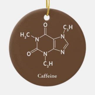 Caffeine Molecule Chemistry Coffee Lovers Christmas Ornament
