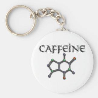 Caffeine Molecule Coffee Chemistry Formula Key Chains