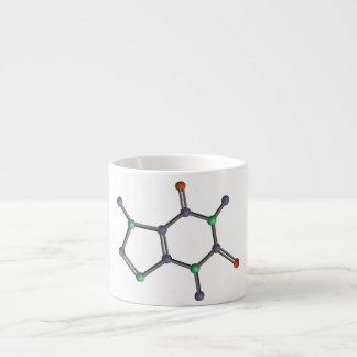 Caffeine molecule espresso cup