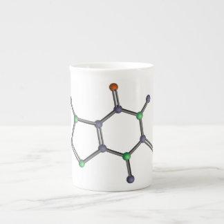 Caffeine molecule porcelain mugs
