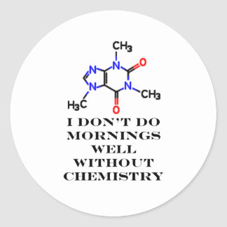 Caffeine Morning White The MUSEUM Zazzle Gifts Sticker