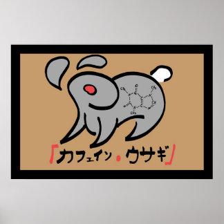 Caffeine Rabbit Print