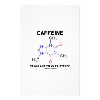 Caffeine Stimulant To My Existence (Molecule) Customised Stationery