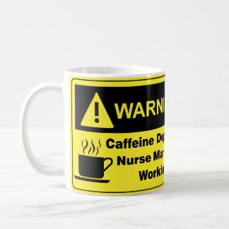 Caffeine Warning Nurse Manager Basic White Mug