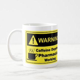 Caffeine Warning Pharmacist Basic White Mug