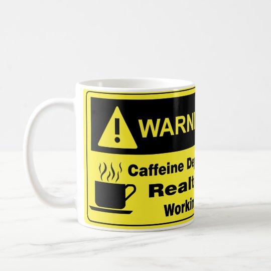 Caffeine Warning Realtor Coffee Mug