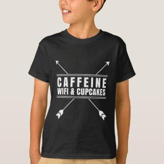 Caffeine Wifi Cupcakes White T-Shirt