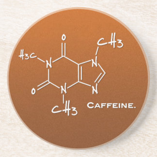 Caffiene molecule (chemical structure) coaster