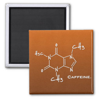 Caffiene molecule chemical structure refrigerator magnets