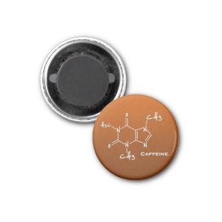 Caffiene molecule chemical structure refrigerator magnet