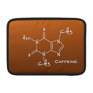 Caffiene molecule (chemical structure) sleeve for MacBook air
