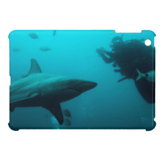 Cage Diving With Blacktip Sharks Cover For The iPad Mini