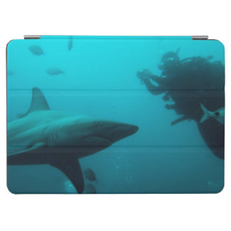 Cage Diving With Blacktip Sharks iPad Air Cover