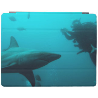 Cage Diving With Blacktip Sharks iPad Cover