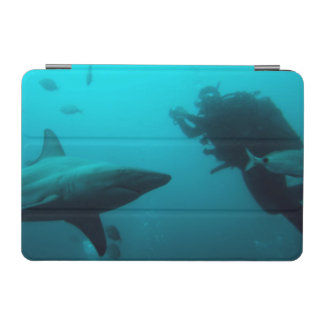 Cage Diving With Blacktip Sharks iPad Mini Cover