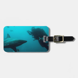 Cage Diving With Blacktip Sharks Luggage Tag