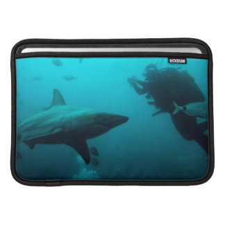 Cage Diving With Blacktip Sharks MacBook Sleeve