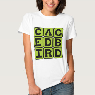 Caged Bird, Avian Pet Tee Shirts