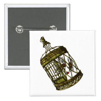 Caged Heart 15 Cm Square Badge