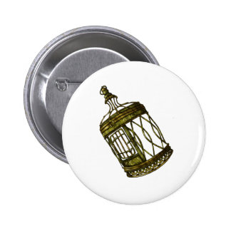 Caged Heart 6 Cm Round Badge