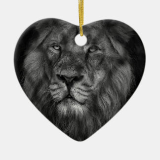 Caged king ceramic heart decoration