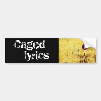 caged lyrics bumper sticker