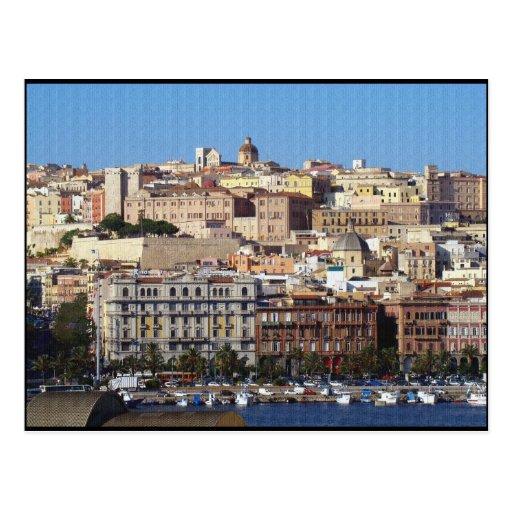 Cagliari, Sardinia, Italy (Canvas Effect) Postcards