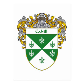 Cahill Coat of Arms (Mantled) Postcard