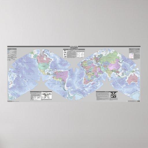 Cahill-Keyes World Political Map Print