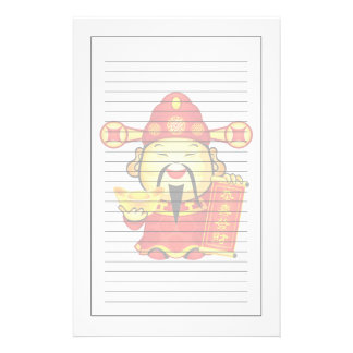 Cai Shen, The Chinese God Of Prosperity Customized Stationery