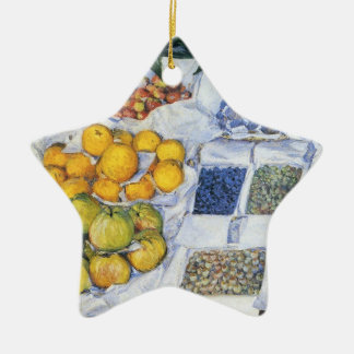 Caillebotte: Fruit Displayed on a Stand Christmas Ornament
