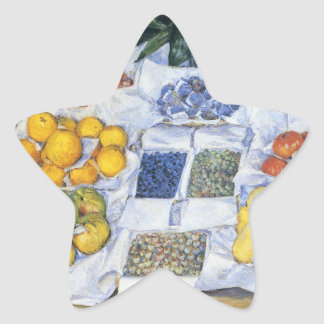 Caillebotte: Fruit Displayed on a Stand Star Sticker