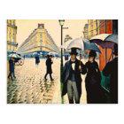 Caillebotte - Paris on a Rainy Day Postcard
