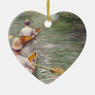 Caillebotte: The Canoes Ceramic Heart Decoration