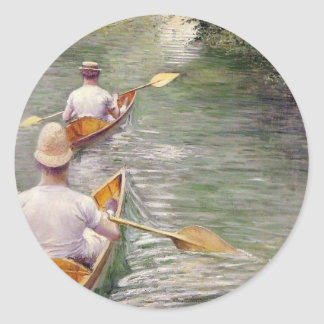 Caillebotte: The Canoes Classic Round Sticker