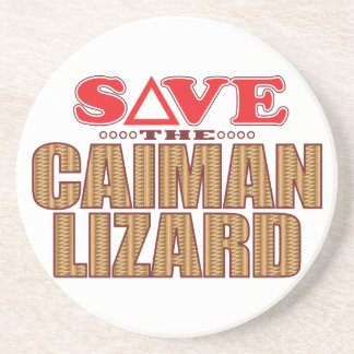Caiman Lizard Save Coaster