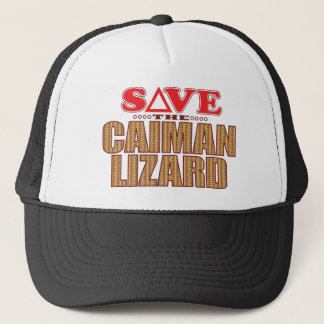 Caiman Lizard Save Trucker Hat
