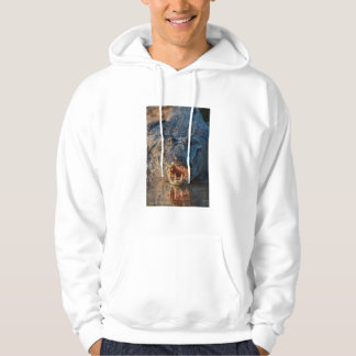 Caiman shows its teeth, Brazil Hoodie
