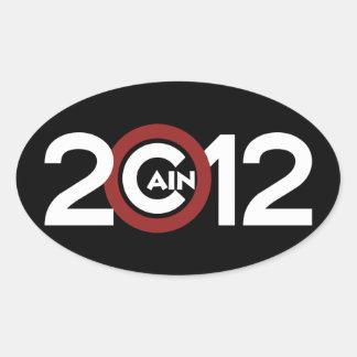 Cain 2012 Black Oval Sticker