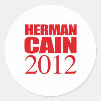 CAIN 2012 -- ROUND STICKER