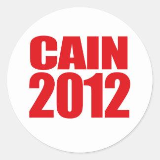 CAIN 2012 - ROUND STICKER